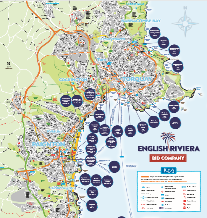 English Riviera Map